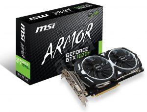 Grafická karta MSI GeForce GTX 1070 Ti Armor
