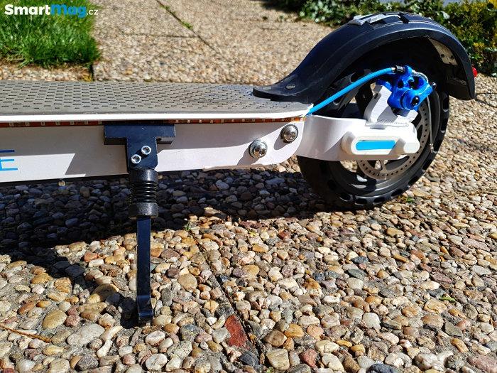 Detail brzdy a stojánku Bluetouch-BTX250