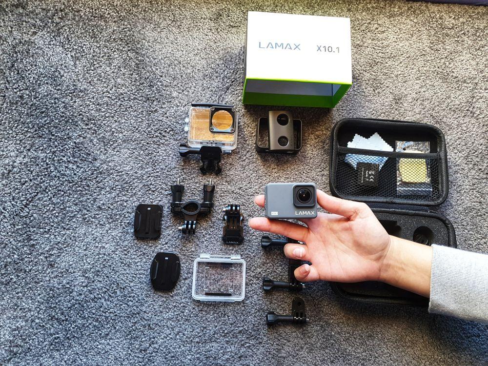 Akční kamera Lamax X10.1 - obsah balení