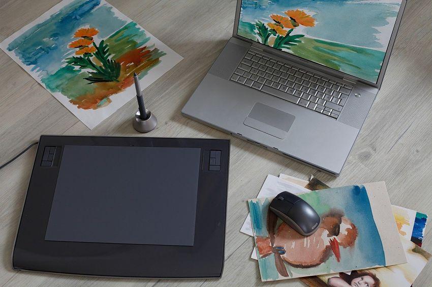 Grafický tablet na kreslení a malování
